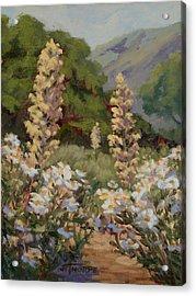 June Whites Acrylic Print