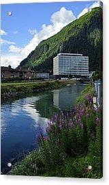 Juneau Federal Building Acrylic Print by Cathy Mahnke