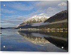 Juneau In Winter Acrylic Print by Cathy Mahnke