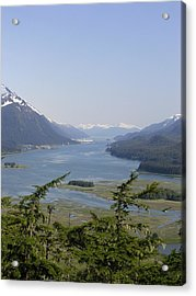 Juneau's Scenic Port Acrylic Print by Cindy Croal