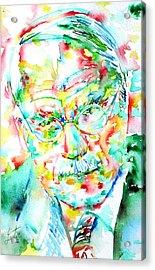 Jung - Watercolor Portrait.2 Acrylic Print