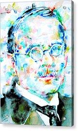 Jung - Watercolor Portrait.3 Acrylic Print