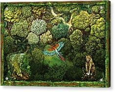 Jungle Animals Framed Acrylic Print