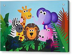 Jungle Acrylic Print by Bav Patel