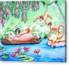Jungle Book Acrylic Print by Tanmay Singh