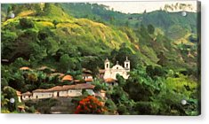 Jungle Church Honduras Acrylic Print by Spyder Webb
