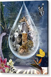 Jungle Drop Acrylic Print