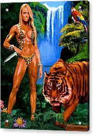 Jungle Girl Acrylic Print