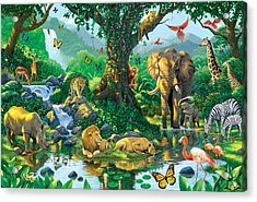 Jungle Harmony Acrylic Print by Chris Heitt