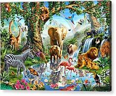 Jungle Lake Acrylic Print by Adrian Chesterman