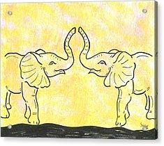 Jungle Love Acrylic Print by Susie WEBER