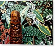 Jungle O Tiki Acrylic Print by Anthony Morris
