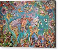 Jungledelphia Acrylic Print by Douglas Fromm