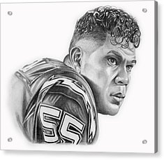 Junior Seau Acrylic Print