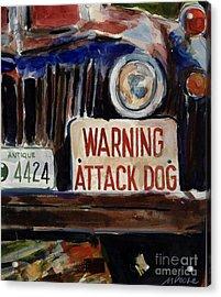 Junkyard Dog Acrylic Print by Molly Poole