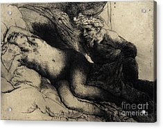 Jupiter And Antiope Acrylic Print by Rembrandt