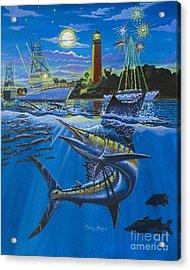 Jupiter Boat Parade Acrylic Print by Carey Chen