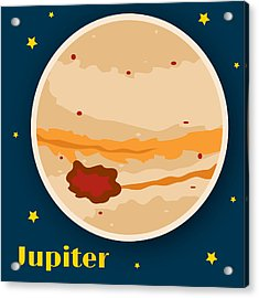Jupiter Acrylic Print by Christy Beckwith