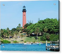 Jupiter Inlet Acrylic Print by William Wyckoff