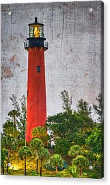 Jupiter Lighthouse Acrylic Print by Debra and Dave Vanderlaan