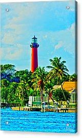 Jupiter Lighthouse Winter Acrylic Print