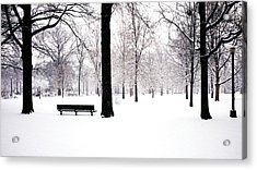 Jupiter Park In Snow Acrylic Print