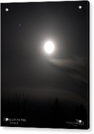 Jupiter With The Moon Acrylic Print by Guy Hoffman