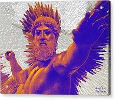 Jupiter - Zeus Acrylic Print by Augusta Stylianou