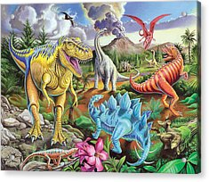 Jurassic Jubilee Acrylic Print by Mark Gregory