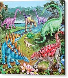 Jurassic Swamp Variant 1 Acrylic Print by Mark Gregory