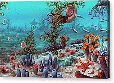 Jurassic Underwater Scene Acrylic Print by Richard Bizley