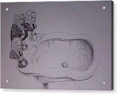 Acrylic Print featuring the drawing Jurisbidencia by Lazaro Hurtado