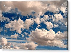 Acrylic Print featuring the photograph Just A Face In The Clouds by Janice Westerberg