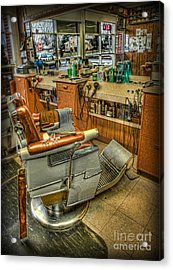 Just A Little Off The Top - Barber Shop Acrylic Print by Lee Dos Santos