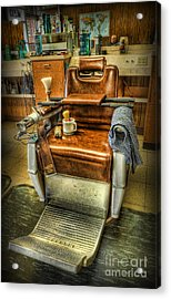 Just A Little Off The Top II - Barber Shop Acrylic Print by Lee Dos Santos
