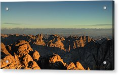 Acrylic Print featuring the pyrography Just After Sunrise by Julis Simo