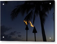 Just After Sunset The Beach Party Is Starting Acrylic Print