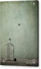 Just An Old Bottle And Its Cap Acrylic Print by Priska Wettstein