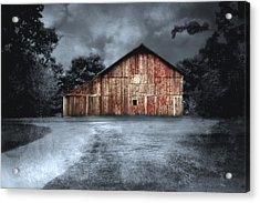 Night Time Barn Acrylic Print