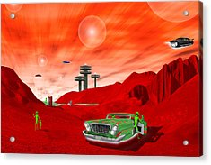 Just Another Day On The Red Planet 2 Acrylic Print by Mike McGlothlen