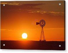 Just Another Nebraska Sunset Acrylic Print