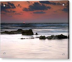 Acrylic Print featuring the photograph Just Before by Meir Ezrachi