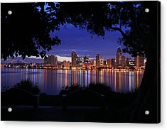 Just Before Sunrise San Diego Acrylic Print
