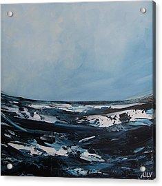Just Blue Acrylic Print by Lilu Lilu
