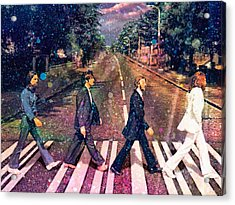 Just Crossing The Street Acrylic Print by Angela A Stanton