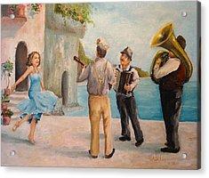 Just Dance Acrylic Print by Alan Lakin