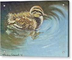 Just Ducky Acrylic Print