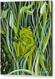 Acrylic Print featuring the painting Just Hanging Around by Jennifer Lake