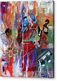 Just Jazzin Acrylic Print