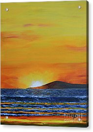 Acrylic Print featuring the painting Just Left Maui by Suzette Kallen